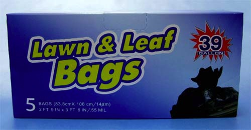 TRASH BAG LAWN/LEAF ROSEWOOD 39GAL