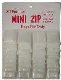 ZIPLOCK MINI BAGS 1 X 1.5 CARD/36