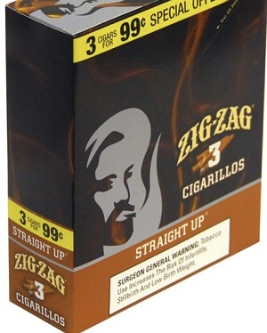 ZIG ZAG CIGARILLOS STRAIGHT UP 3/.99