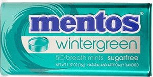 MENTOS MINTS WINTERGREEN BOX/12