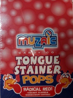 TONGUE STANINER POPS RADICAL RED