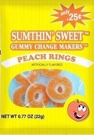 SUMTHIN SWEET GUMMY PEACH RINGS