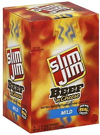 SLIM JIM BEEF N CHEESE BOX/18