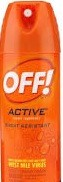 OFF INSECT REPEL ACTIVE 6 OZ