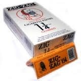 CIG PAPER ZIG ZAG ORANGE BOX/24